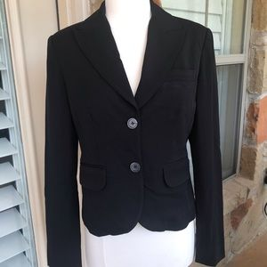 Michael Kors Black Stretch Fitted Lined  Jacket